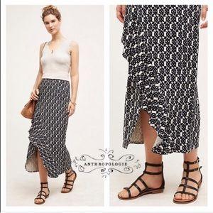 Maeve Makara Ribbed Faux Wrap Skirt Medium